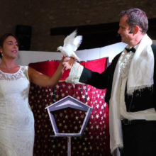 Colombes mariage magie