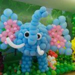 Architecture de ballons éléphant