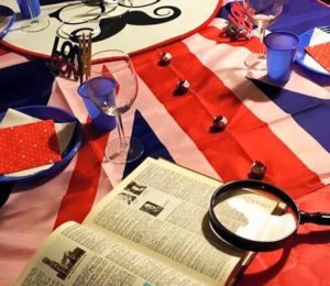 table jeu anglais anniversaire thème british