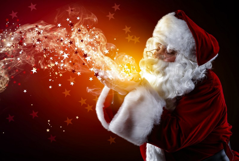 La venue du Père Noël Offrez aux enfants des étoiles plein les yeux, une prestation féerique : celle du père noël.